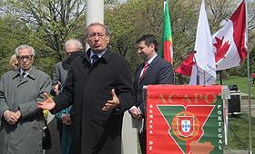 José Cesário deixou elogios para o crescimento e amadurecimento da comunidade portuguesa residente em Toronto
