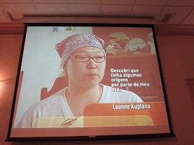 Um testemunho captado durante a projeção do documentário