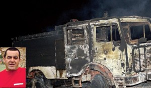 António Nuno Ferreira, de 45 anos, ficou queimado quando tentava proteger os colegas e o veículo de combate a incêndios, que foi completamente devorado pelas chamas, cujas causas se desconhecem