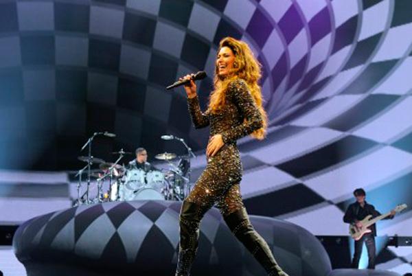 "Shania Twain durante o espetáculo ""Shania: Still the One"", no The Colosseum at Caesars Palace, Las Vegas, Nevada. (arquivo:WireImage / Denise Truscello)"