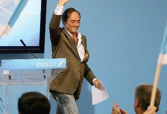 """Portas destacou o reforço autárquico do CDS e falou numa """"interrupção do declínio"""" do partido (Foto Miguel A. Lopes)"""