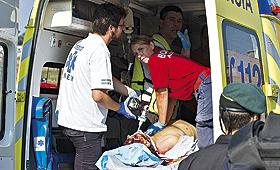 Dário Ferreira ainda foi assistido no local, mas não resistiu. RUI MIGUEL PEDROSA
