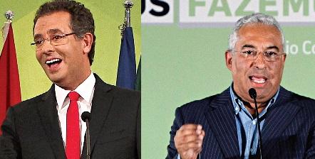 António José Seguro, líder do PS, e António Costa, presidente da Câmara de Lisboa, dois dos grandes vencedores da noite eleitoral (Fotos Mário Cruz/LUSA e Sérgio Lemos)