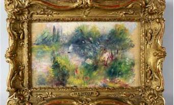 'Paisagem das Margens do Sena' terá sido pintado por Renoir em 1879 e era pertença do Museu de Baltimore