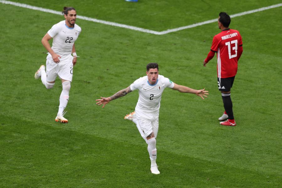 Resultado de imagem para IMAGENS  Uruguai vence o Egito em Ecaterimburgo